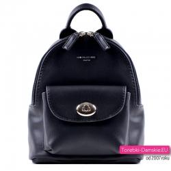 Mały czarny plecak damski
