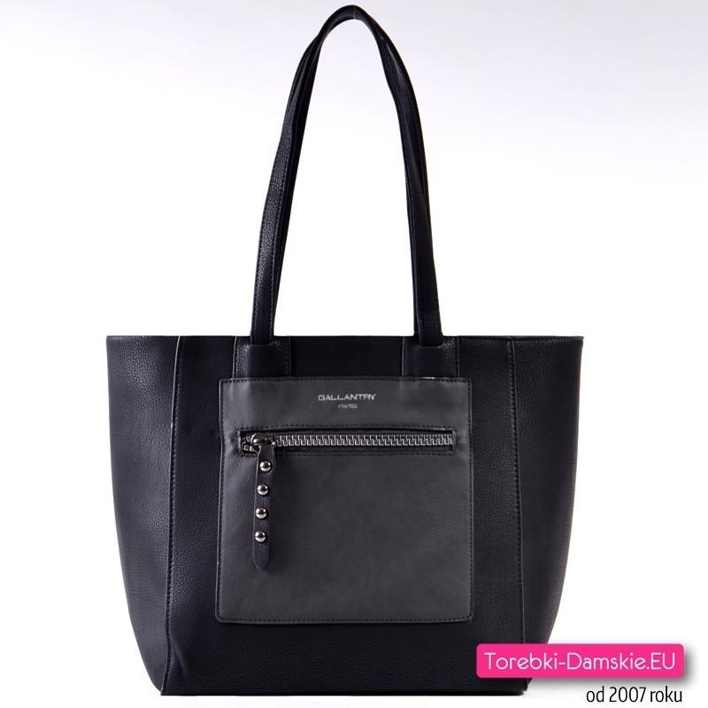 Czarna torba damska A4 na ramię
