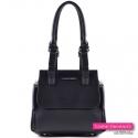 Czarna torebka - mały kuferek z ozdobnymi suwakami