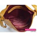 Musztardowa torebka 3 w 1 - żółty plecak damski w modnym odcieniu