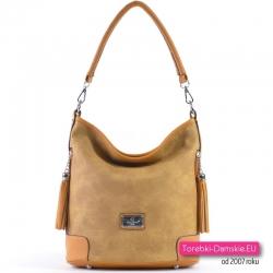 Żółta torebka w modnym odcieniu