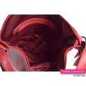Czerwona torebka na ramię/do przewieszenia i możliwością noszenia jako plecak