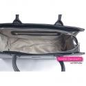 Czarna markowa torebka - kuferek - teczka damska A4