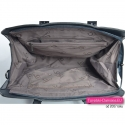 Granatowa duża torebka A4 - kuferek - stylowa teczka damska