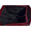 Rozkładana czerwona skórzana torba włoska