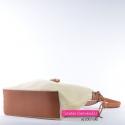 Jasnobeżowa torebka z brązowymi elementami