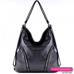 Czarna torba miejska A4 i plecak w jednym