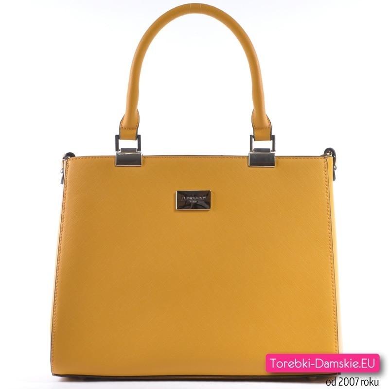 cfae6489c06eb Torebka damska w kolorze musztardowym - modny odcień żółtego