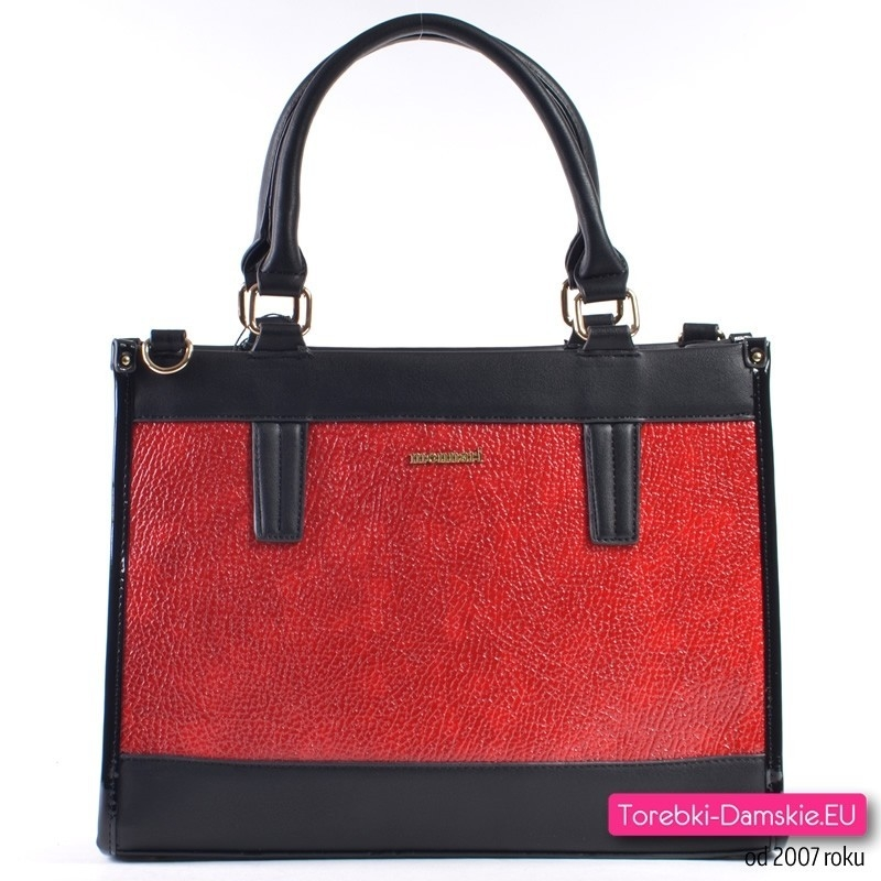 Czerwono - czarna oryginalna torebka damska Monnari