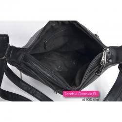 Dwukomorowa torebka damska zamykana zamkami błyskawicznymi