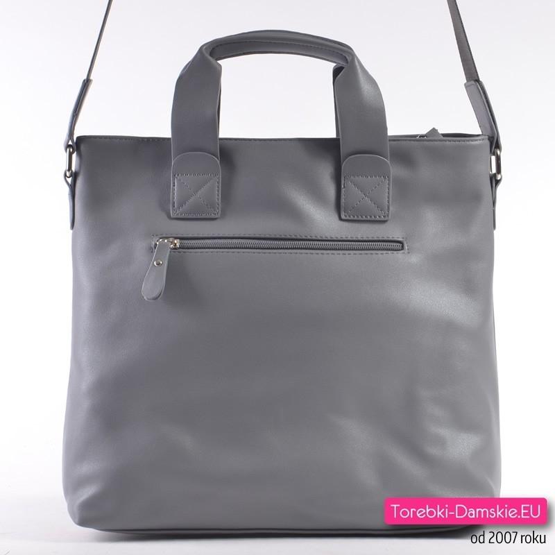bc7288d59e6f2 ... Z tyłu tej szarej torebki Monnari kieszeń z suwakiem ...