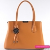 Torebka w kolorze żótym - piękny kuferek w modnym odcieniu