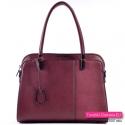 Bordowa torebka - kuferek w modnym odcieniu