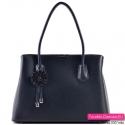 Czarna torebka - markowy ekskluzywny kuferek