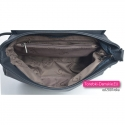Granatowa damska torebka z 5 kieszeniami wewnętrznymi