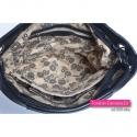 Czarny shopperbag / worek na ramię pikowany z przegrodą