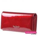 Czerwony portfel Pierre Cardin w pięknym odcieniu