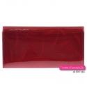 Portfel lakierowany damski kolor czerwony