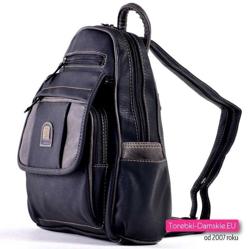 e4286709e91ea ... Miejski elegancki plecak damski z dużą ilością kieszeni ...