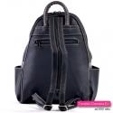 Funkcjonalny czarno - grafitowy plecak damski