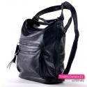 Plecako - torebka w kolorze czarnym