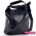 Plecako-torba damska czarna