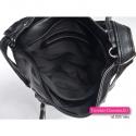 Czarna plecako-torebka z przegrodą w środku
