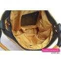 Żółta polska torebka z licowej skóry