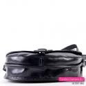 Skórzana dwukomorowa torebka w kolorze czarnym