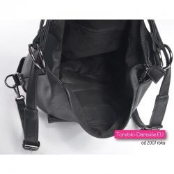 Mieszcząca A4 torebka / plecak damski w kolorze czarnym