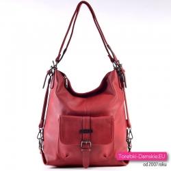 Czerwona torba miejska i plecak w jednym