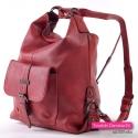 Czerwony plecak damski ciemna czerwień