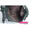 Zielona torba damska z 3 kieszeniami w środku