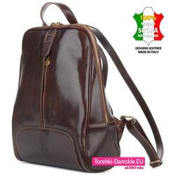Luksusowy damski plecak produkcji włoskiej z prawdziwej skóry
