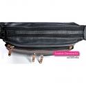 Dwukomorowa torebka damska - każda część zamykana osobnym zamkiem