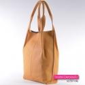 Skórzana torba shopperbag w najmodniejszym odcieniu żółtego