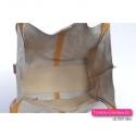 Duża torba ze skóry w kolorze żółtym