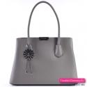 Szara torebka damska - ekskluzywny elegancki kuferek