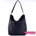 Czarna torebka z kieszenią z tyłu