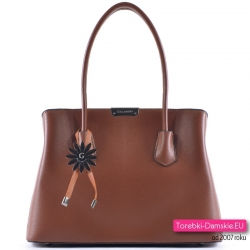 Brązowa markowa elegancka torebka