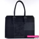 Damska teczka - pojemna torba w kolorze czarnym