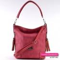 Czerwona torebka damska na ramię i do przewieszenia
