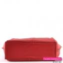 Torebka skórzana czerwona z płaskim prostokątnym spodem
