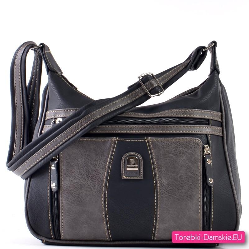 Czarna torebka na ramię i do przewieszenia (pasek długi w