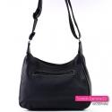 Klasyczna czarna torebka z kieszenią z tyłu