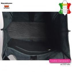 Czarna torebka shopper ze skóry naturalnej