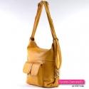 Żółta torebka na ramię, do przewieszenia z kieszonką