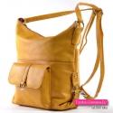 Żółty musztardowy damski plecak