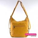 Torebko - plecak damski w kolorze żółtym