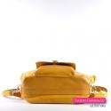 Funkcjonalna żółta miejska torebka damska w modnym odcieniu